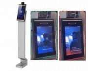 Totem signalétique terminal de dépistage température corporelle - Solution avec système visuel