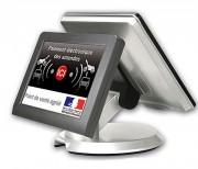 Terminal marketing tactile à double écran - Avec Ecran Médiaflyer pour un espace de vente dynamique !