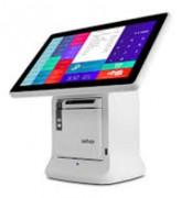 Terminal point de vente compact - Avec imprimante ticket inséré dans le pied