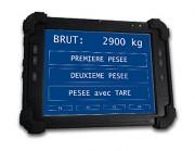 Terminal portable de pesage