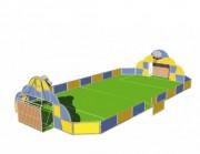 Terrain multisports barrodé - Dimensions : 3 m x 2 m   -  Poteaux multi activités