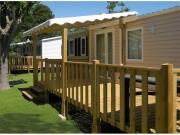 Terrasse Bois pour mobilhome - Surface : 15 m2 - 1/2 couverte