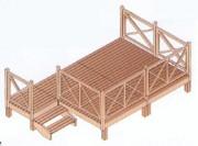 Terrasse mobil home bois