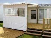Terrasse pour mobilhome 4,00 X 2,50 m - Terrasse 1/2 couverte