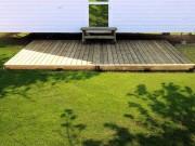 Terrasses pour mobil homes - Surface : 20 m2