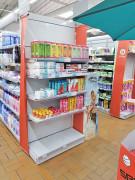 Tête de gondole supermarché - Profondeur des tablettes : 412, 515 mm