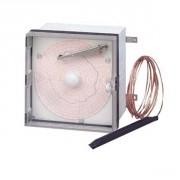 Thermomètre à aiguille enregistreur à disque - Amplitude : -35 à +15°C