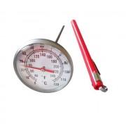 Thermomètre à cadran inox pour viande - Amplitude (double échelle) : 0+120 /+40+ 240