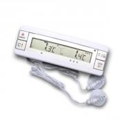 Thermomètre frigo à 2 sondes - Amplitude : -40+70°C   -40+158°F