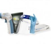 Thermomètre infrarouge et accessoires de prévention Covid 19 - Thermomètre infrarouge + visière de protection + gants