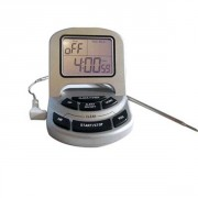 Thermomètre digital sonde inox avec alarme