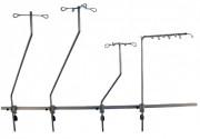 Tige à perfusion sur rail - Modèle : Courbé - Avec 2 - 4 ou 8 crochets
