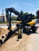 Tiltrotateur pour pelle chantier 6,5 à 11 tonnes - Tiltrotateurs à positions de travail multiples