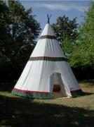 Tipi tente de camping familiale - Surface 16.34 m²