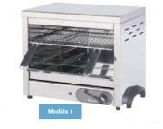 Toaster avec résistances en inox - Dimension (L x P x H) mm : Jusqu'à 800 x 400 x 455