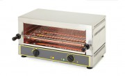 Toaster salamandre professionnel - Puissances (W) : 2700/4000 - Dimensions : 640 x 380 x 335 / 640 x 380 x 475 - Type : Horizontal