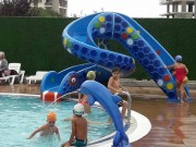 Toboggan aquatique de piscine - Compatible avec l'électrolyse au sel - Javel