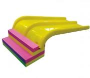 Toboggan aquatique double piste pour enfant - Toboggan bigliss en mousse pour parcours aquatique