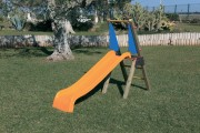 Toboggan d'extérieur pour enfants - Dimensions (cm)  : 285 x 65 x 180
