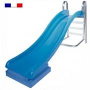 Toboggan de piscine - Longueur glissière : 2.40 m - Largeur : 0.60 m