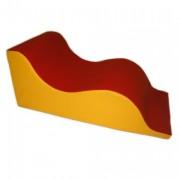 Toboggan double vague en mousse - Dimensions: 100 x 50 x 40cm