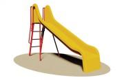 Toboggan en acier pour enfants - Dimensions (L x P x H): 100 x 290 x 190 cm