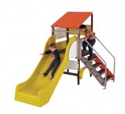 Toboggan pour enfants - Dimensions (mm) : 2450 x 1550 x 2050 - conforme aux normes EN 1176 et 1177
