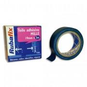 Toile adhésive MILLE, plastifiée et imperméable, rouleau de 19mmx bleu - Rubafix