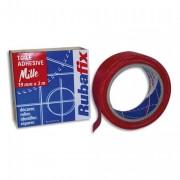 Toile adhésive MILLE, plastifiée et imperméable, rouleau de 19mmx rouge - Rubafix