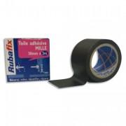 Toile adhésive MILLE, plastifiée et imperméable, rouleau de 38mmx noir - Rubafix
