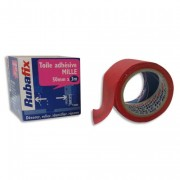 Toile adhésive MILLE, plastifiée et imperméable, rouleau de 50mmx rouge - Rubafix