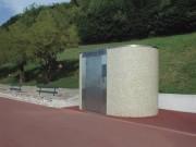 Toilette public simple en béton - Modèles Extérieurs PMR L200