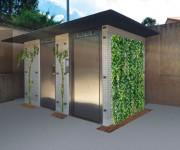 Toilette publique automatique - Cabine PMR usages pour tous - 3 urinoirs - Local technique