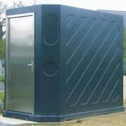 Toilette publique d'extérieur - Châssis abattant traité anti UV : 600 x 450