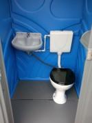Toilette raccordable au réseau - Siège WC en porcelaine - Lavabo encastré