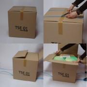 Toilette sèche écotoil - Dimensions : Largeur 44 cm, profondeur 48,5 cm, hauteur 49 cm
