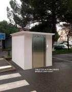 Toilettes automatique 2 cabines - 2 urinoirs - Avec cornières décoratives sans débord du toit