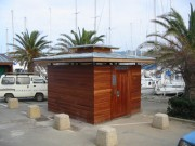Toilettes exterieur bois Personnalisés - Toilettes Ile de Porquerolles-dept 83