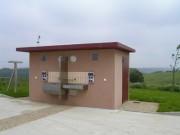 Toilettes exterieur en béton pour voyageurs - Toilettes gens du voyage N2F