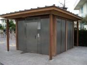 Toilettes exterieur inox personnalisés - Toilettes Hossegor-dept 40