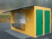 Toilettes exterieur rectangulaire pour voyageurs - Toilettes gens du voyage N2F
