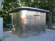 Toilettes exterieures Personnalisés en inox brossé