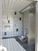 Toilettes interieur double plus urinoir largeur 2.90 m - Modèles Intérieurs PMR R450