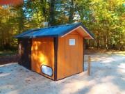 Toilettes publiques écologiques - 120 x 120 cm au sol et une hauteur de 210 cm