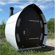 Toilettes sèches - Forme de coque de bateau retournée
