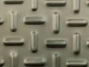 Tôle à relief antidérapant - Gaufrage oblong - Format standard de 1500 x 3000 mm