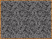 Tôle perforée décorative 1500 x 3000 mm - Perforation carré en disposition aléatoire