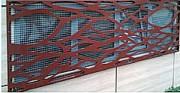 Tôle perforée décorative d'extérieur - Habillage en tôle métallique autoportant