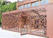 Tôle perforée décorative pour abri - Effet végétal - Acier ou aluminium épaisseur 3 mm