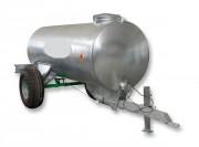 Tonne à eau mobile - En tôle galvanisée - Volume : de 2000 à 5000 L